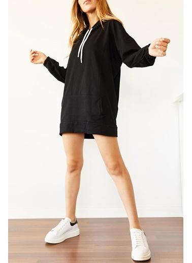 XHAN Bisküvi Rengi Sırt Baskılı Sweatshirt Elbise 0Yxk8-44006-70 Sarı